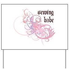 Sewing Babe Yard Sign