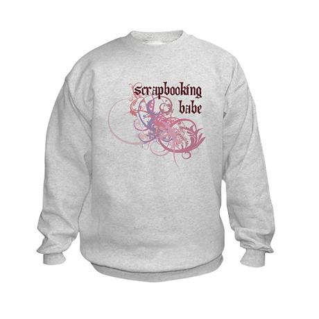 Scrapbooking Babe Kids Sweatshirt