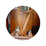 "St Patrick's Sheltie & Celtic harp 3.5"" B"
