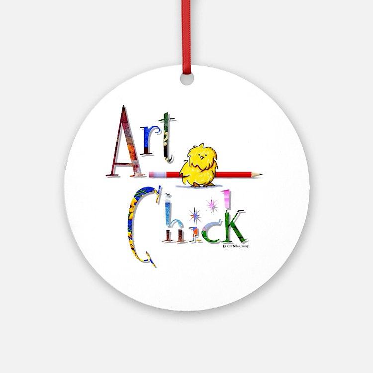 Art Chick Ornament (Round)