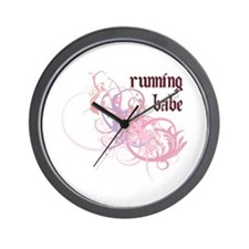 Running Babe Wall Clock