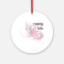 Running Babe Ornament (Round)