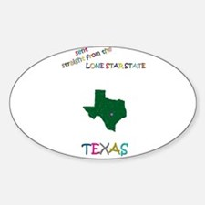 Texas gift Oval Decal