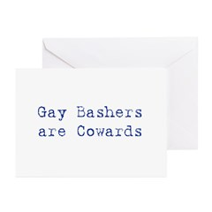 Gay bashers are cowards Greeting Cards (Pk of 20)
