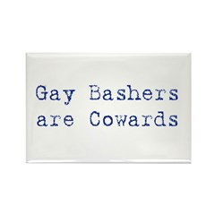 Gay bashers are cowards Rectangle Magnet (100 pack