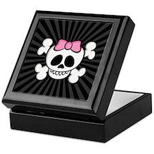Ha-Ha Skull Girl Keepsake Box