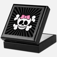 Ha-Ha Skull Girl Keepsake Box