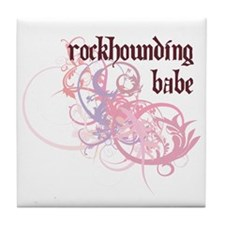 Rockhounding Babe Tile Coaster