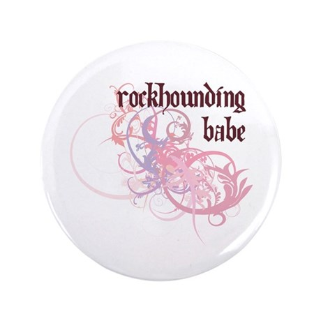 "Rockhounding Babe 3.5"" Button (100 pack)"