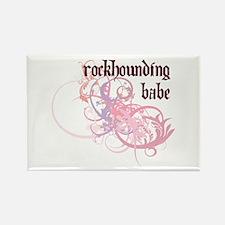 Rockhounding Babe Rectangle Magnet