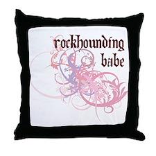 Rockhounding Babe Throw Pillow