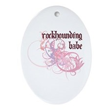 Rockhounding Babe Oval Ornament