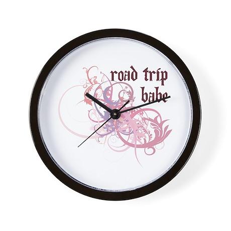 Road Trip Babe Wall Clock
