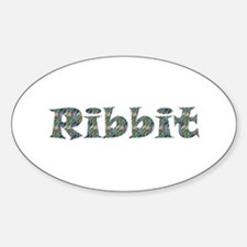 Ribbit Oval Decal
