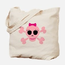 Funny Pink Skull Tote Bag