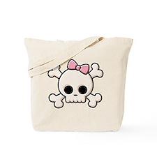 Cute Skull Girl Tote Bag