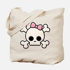Cute Skull Girl Tote Bag