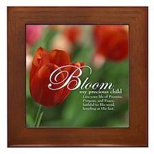 Bloom My Child Framed Tile