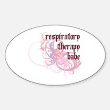 Respiratory Therapy Babe Oval Decal