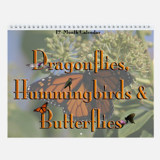 Dragonflies, Hummingbirds, & Butterflies