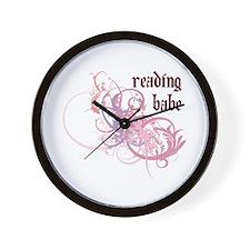 Reading Babe Wall Clock