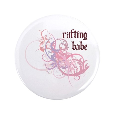 """Rafting Babe 3.5"""" Button"""