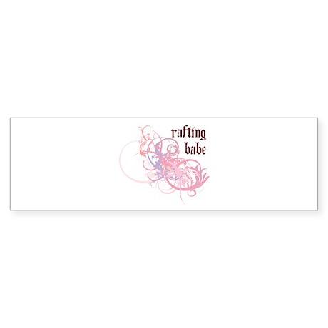 Rafting Babe Bumper Sticker