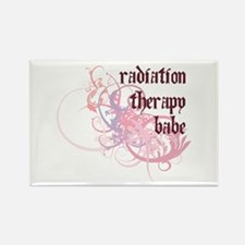 Radiation Therapy Babe Rectangle Magnet