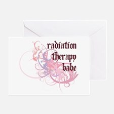 Radiation Therapy Babe Greeting Card