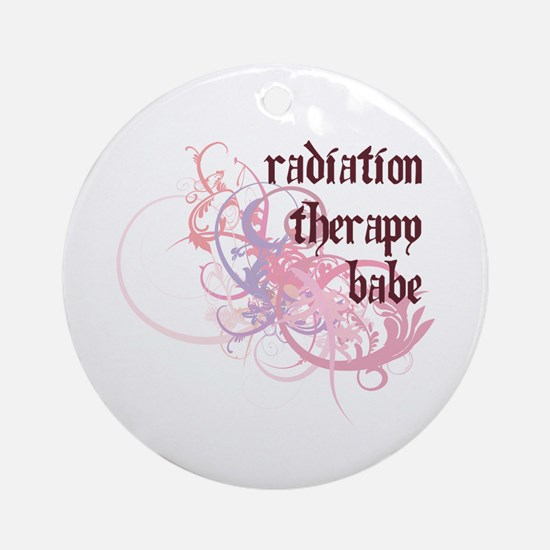 Radiation Therapy Babe Ornament (Round)