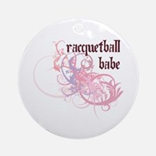 Racquetball Babe Ornament (Round)