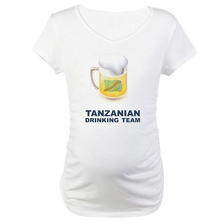 Tanzanian Drinking Team Maternity T-Shirt
