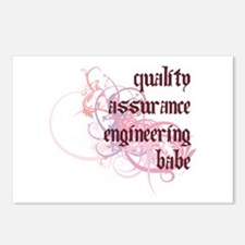 Quality Assurance Engineering Babe Postcards (Pack