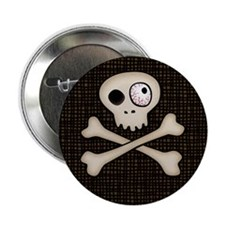 """One-Eyed Skull 2.25"""" Button"""