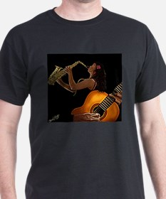 Classical Guitar and Sax Girl 5 copy T-Shirt