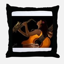 Funny Jazz Throw Pillow