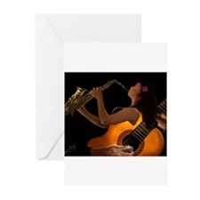 Cute The jazz singer Greeting Cards (Pk of 20)