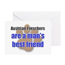 Austrian Pinschers man's best friend Greeting Card