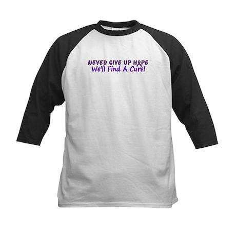 Never Give Up Hope Kids Baseball Jersey