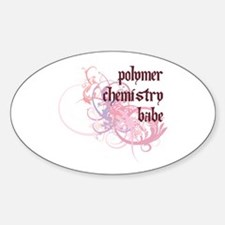 Polymer Chemistry Babe Oval Decal
