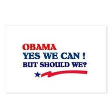 Obama Yes We Can But Should We? Postcards (Package