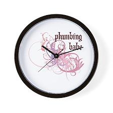 Plumbing Babe Wall Clock