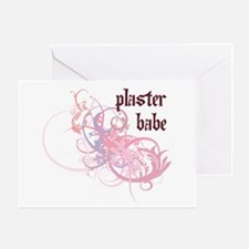Plaster Babe Greeting Card