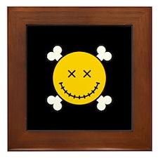 Smiley and Crossbones Framed Tile