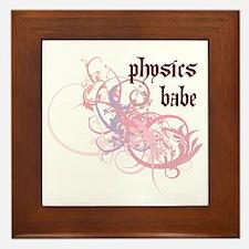 Physics Babe Framed Tile