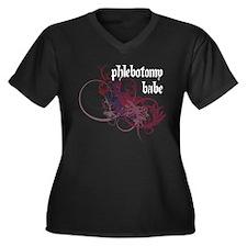 Phlebotomy Babe Women's Plus Size V-Neck Dark T-Sh