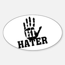 Hi Hater Oval Decal