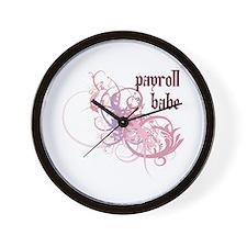 Payroll Babe Wall Clock
