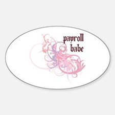 Payroll Babe Oval Decal