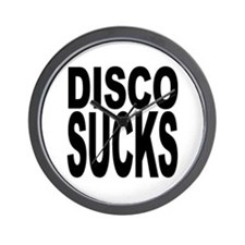 Disco Sucks Wall Clock